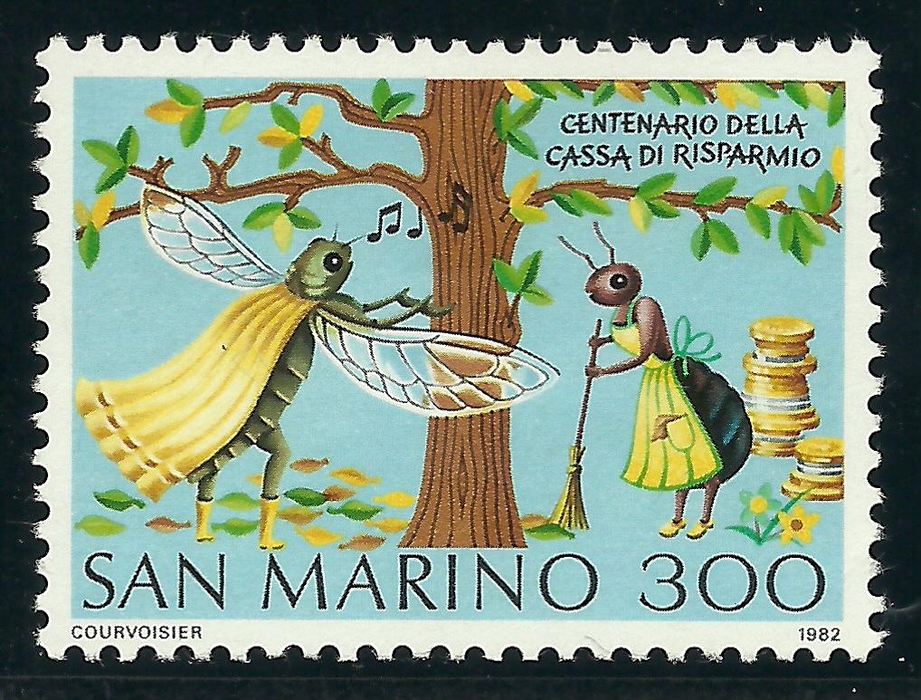 San Marino 1982 La cigarra y la hormiga